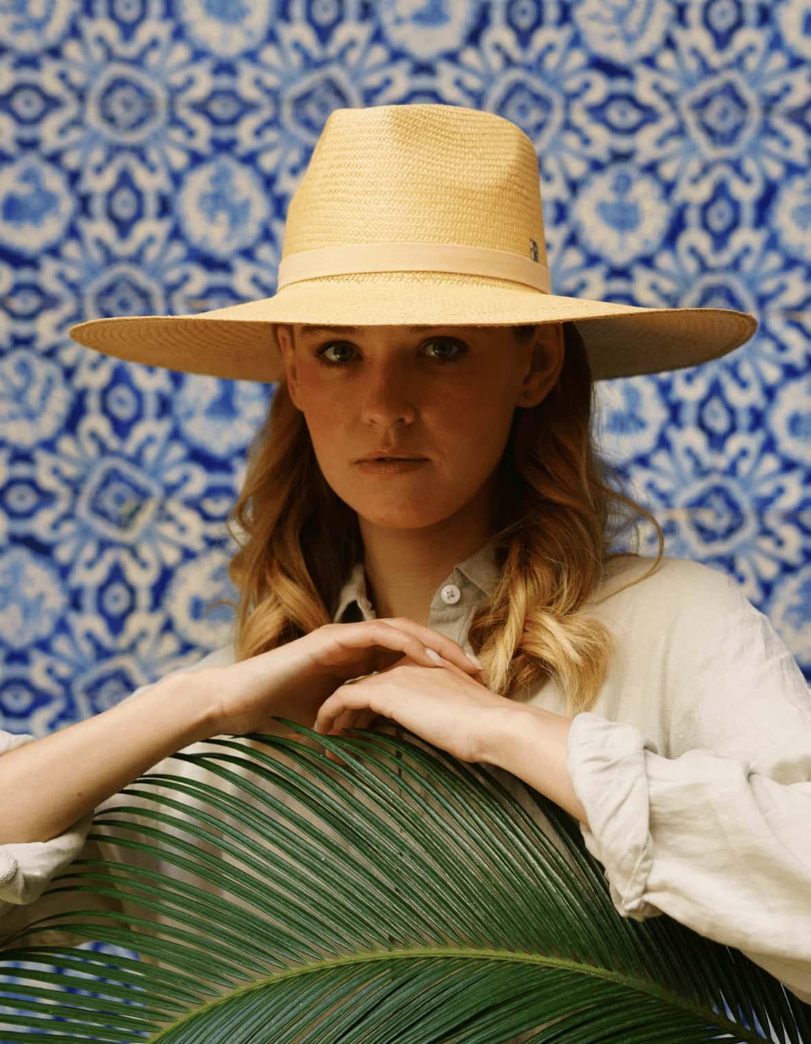 Chapeau Panama Corfou pour l'été